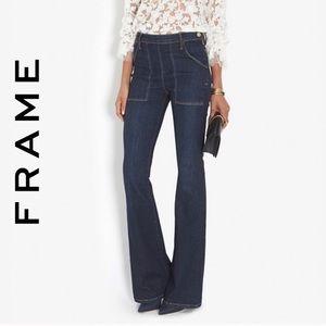 Frame La Flare de Francoise high rise flare jeans